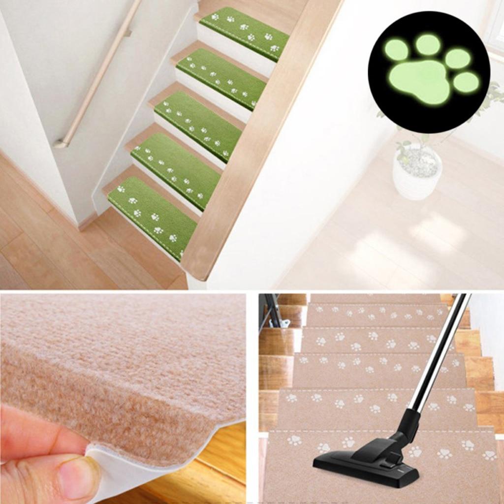 Stair Case Treads Mat Stair Step Mats Indoor Carpet Area Rug Safty Night Luminous Design for Children Kids