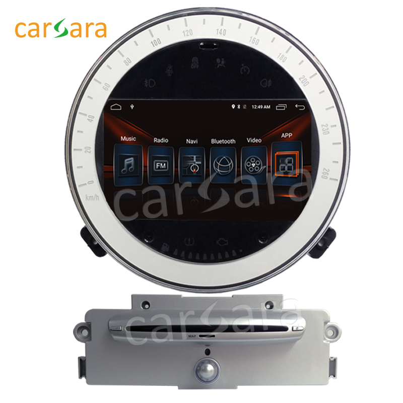 carsara Android 6.0 GPS Navigation Radio for Mini Cooper 2007-2011 with silver CD 7 inch touch screen Head Unit media Player