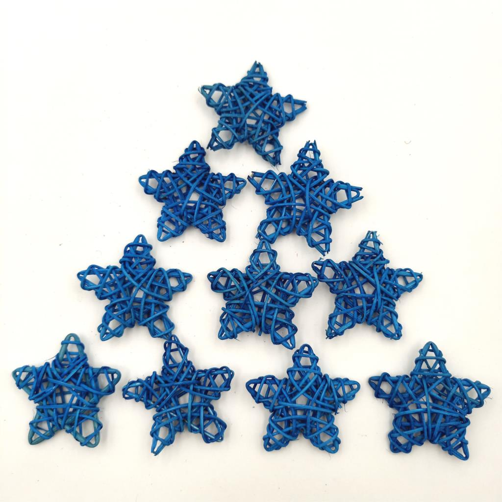10pcs Blue color Rattan Star for Wedding Sepak Takraw for Birthday Party DIY Decoration Home DIY Art Ornaments Rattan Ball in Party DIY Decorations from Home Garden