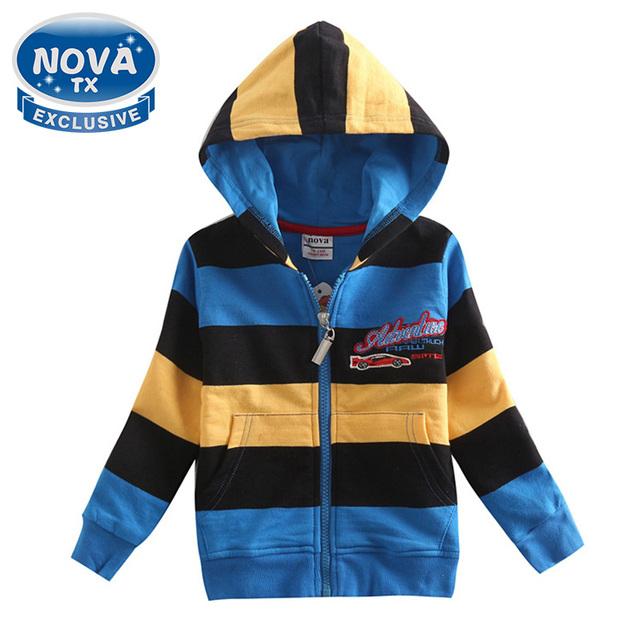 2016 novo bebê meninos casaco de inverno crianças outwear adorável mangas compridas listradas hoodies nova crianças moda de algodão meninos roupas A5126