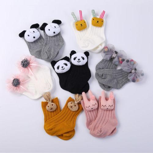 Emmababy Lot 2 Pairs Kind Baby Kleinkind Junge Sockings Baumwolle 0 ~ 5y Nette Mädchen Neugeborenen Kinder Cartoon Nette Sockings