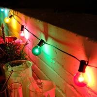 Thrisdar 7.5M G40 Globe Bulbs Christmas Fairy String Light With 25PCS E12 5W Vintage Bulbs Party Wedding Holiday Garden Garland