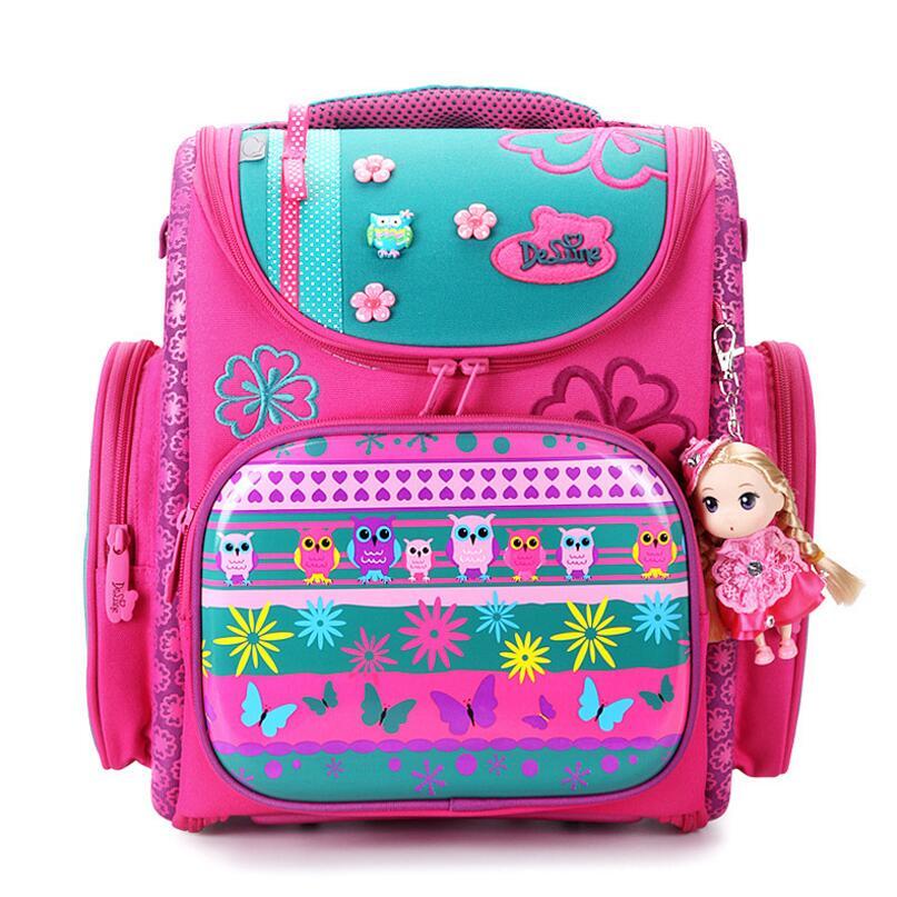 Delune Kids Backpacks Kindergarten School Bags for Girls Boys Waterproof Cartoon Children Mochila escolar infantil Schoolbag