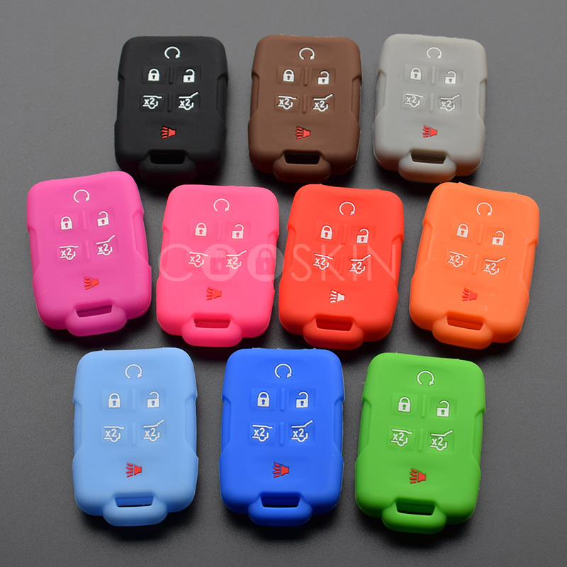 100pcs lot Silicone rubber key FOB Adhesive Support cover Protect for GMC Yukon Sierra Canyon Terrain