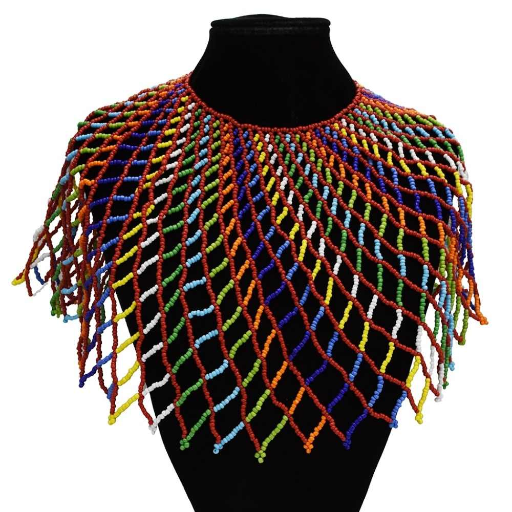 Ethnic Boho Multilayer Exaggeration Bib Necklaces Wide Choker Necklaces & Pendants Women Statement Maxi Party African Jewelry