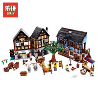 Лепин 16011 1601 шт. замок серии средневековой Рынок село Модель Строительство комплекты Blcoks кирпича игрушки для мальчиков LegoINGlys 10193