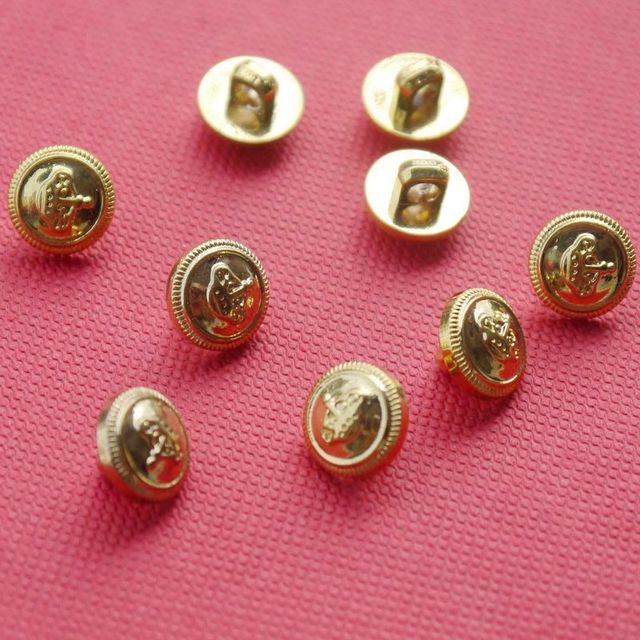 US $13 56 |Diy gold navy style button metal bow decoration hair accessory  sweater shirt buttons 10mm-in Buttons from Home & Garden on Aliexpress com  |