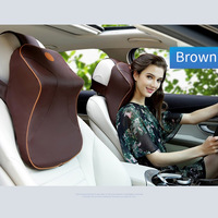 Leather+3D Memory Foam Car Neck Pillow Adjustable Head Restraint Auto Headrest Travel Pillow with For Renault Volvo Citroen