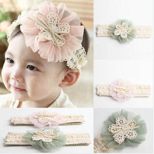 Hot Sale Cute Baby Girl Kid Toddler Headband Lace Flower Hairband 4 Colors Drop Shipping 1Pcs/Lot A065