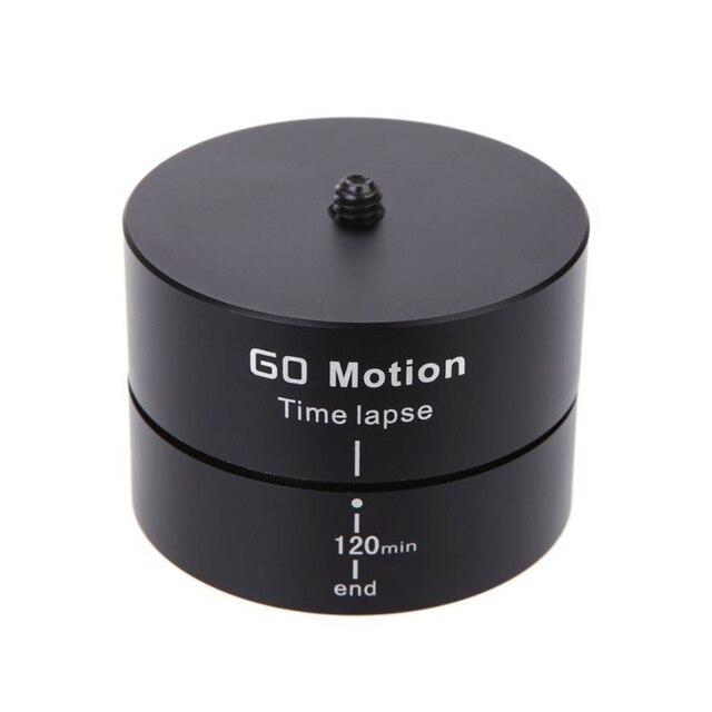 Алюминиевый Сплав 360 Градусов 120 Минут Панорамирование Вращение Штатив Длительной Стабилизатор Штатив Адаптер для Gopro Спорт DSR Камеры