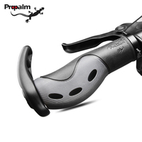 Propalm Bicycle Grips MTB Mountain Road Bike Handlebar Grips Ends Alloy Rubber Silicone Soft Lock On Cycling Handle Grips Plugs