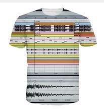 2017 casual DJ music Ableton Live males hiphop concert shirt sweatshirt 3d print women/men cartoon pullover summer Tees T-shirts