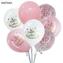 NASTASIA, 40 шт./лот, с днем рождения, прозрачный порошок, жемчужная пудра, шар, 12 дюймов, 2,8 г, комбинированный шар, украшенный на день рождения