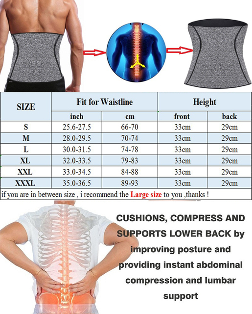 NINGMI Modeling Belt Corset Males Mans Fitness Body Shaper Waist Trainer Sweat Sauna Neoprene Therma Slimming Belly Band Strap 5