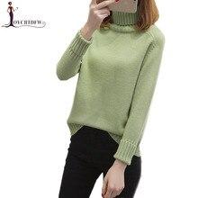 купить Turtleneck Sweater Female Autumn Winter New Loose pullover Sweater Women Korean Long-sleeved Wild Warm Tops Bottom Sweater NO678 онлайн