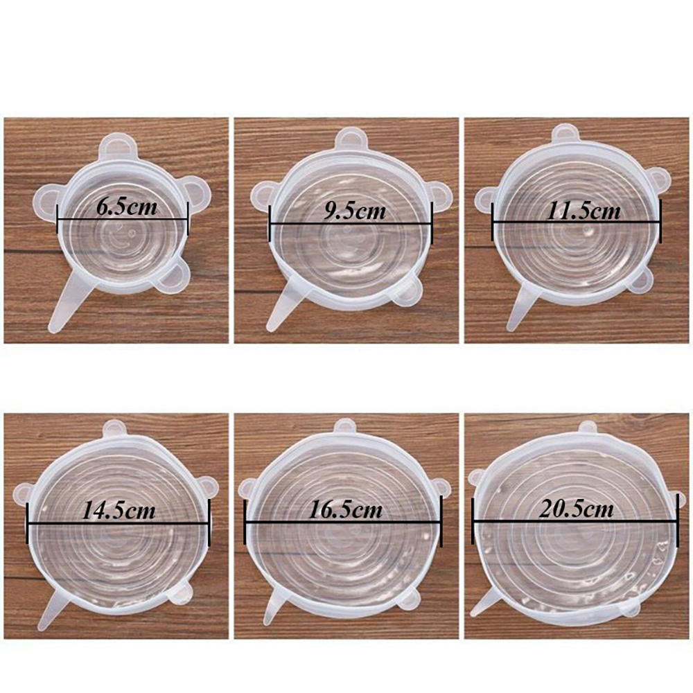 Zero-waste Reusable Food and Container Lids(6 Pcs)