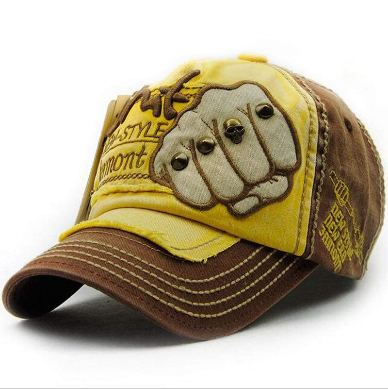 Kapelë e re unisex Snapback Rivet Fist Baseball Kapele pambuku - Aksesorë veshjesh - Foto 6