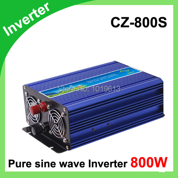 800 w pur onduleur à onde sinusoïdale 12 v 24vDC/110 v 220 v AC CZ-800S