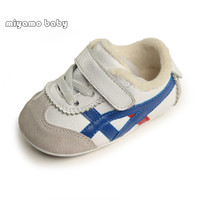 Winter Infant Shoes Warm Plush Baby Girl Boy Gen Genuine Leather Shoes Soft Sole First Walker 0 1years