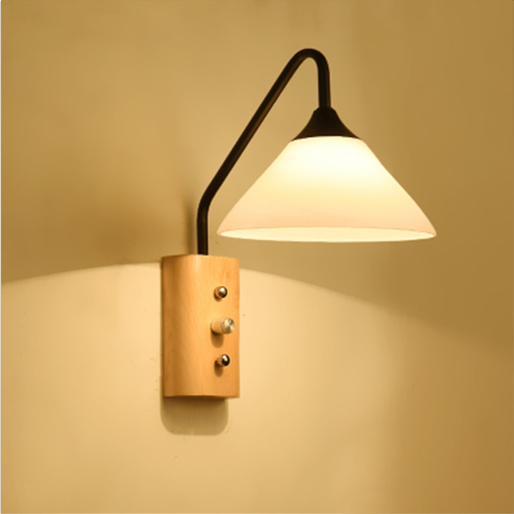 HGhomeart American Style Iron Vintage Led Wall Lamps 110V 220V Wall ...