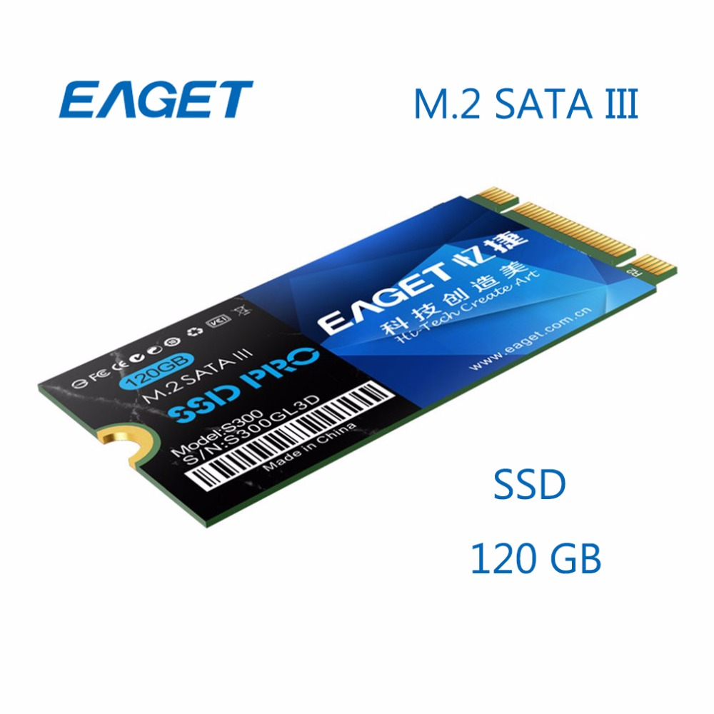 EAGET SSD 120GB SATA 3 M.2 NGFF Internal Solid State Drives For Ultrabook Shockproof High Speed HD HDD Disk For Laptop DIY PC 22x42mm kingspec 60gb 120gb m 2 solid state drive ngff m 2 interface ssd pcie mlc for lenovo thinkpad hp asus laptop notebook