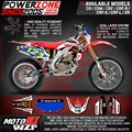 Customized Graphics Backgrounds 3M Stickers Asterisk Decals For CRF250X CRF450X CRF250 450 R L Motorcycle Racing Enduro