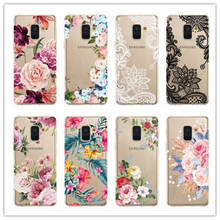 For Samsung Galaxy J4 J6 S8 S9 S10 Plus A9 A6 A8 A7 2018 A750 M10 M20 A30 A50 S10 Lite Note 9 Case Flower Soft Silicone Cover color tpu silicone frosted matte case for samsung galaxy j4 j6 s10 plus a9 a6 a8 a7 2018 a750 m10 m20 m30 a30 a40 a50 a70 cover
