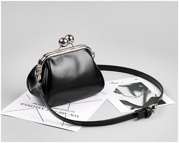 bags women leather shoulder crossbody bag women's handbag kiss lock bag (16)