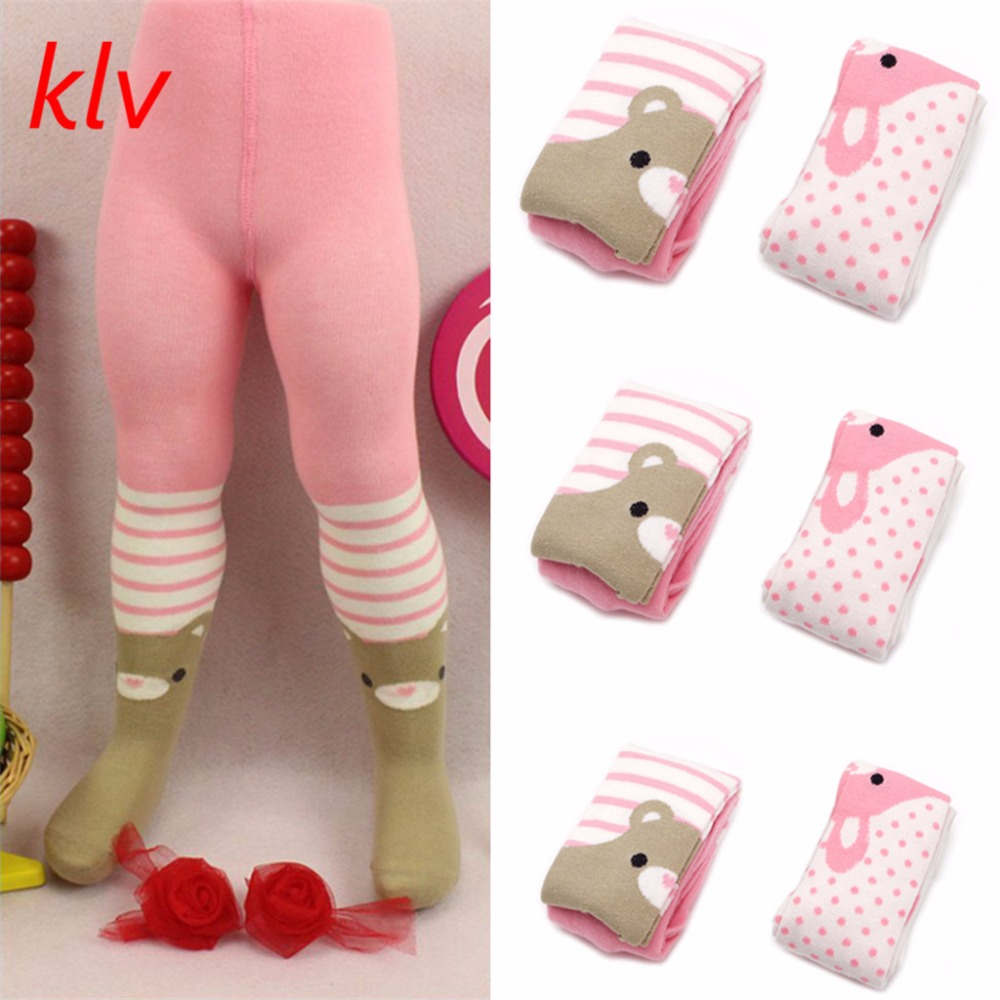 Toddler Baby Girls Bear Cotton Tights Pants Baby Stockings Pants Hosiery Pantyhose For 0-3 Years