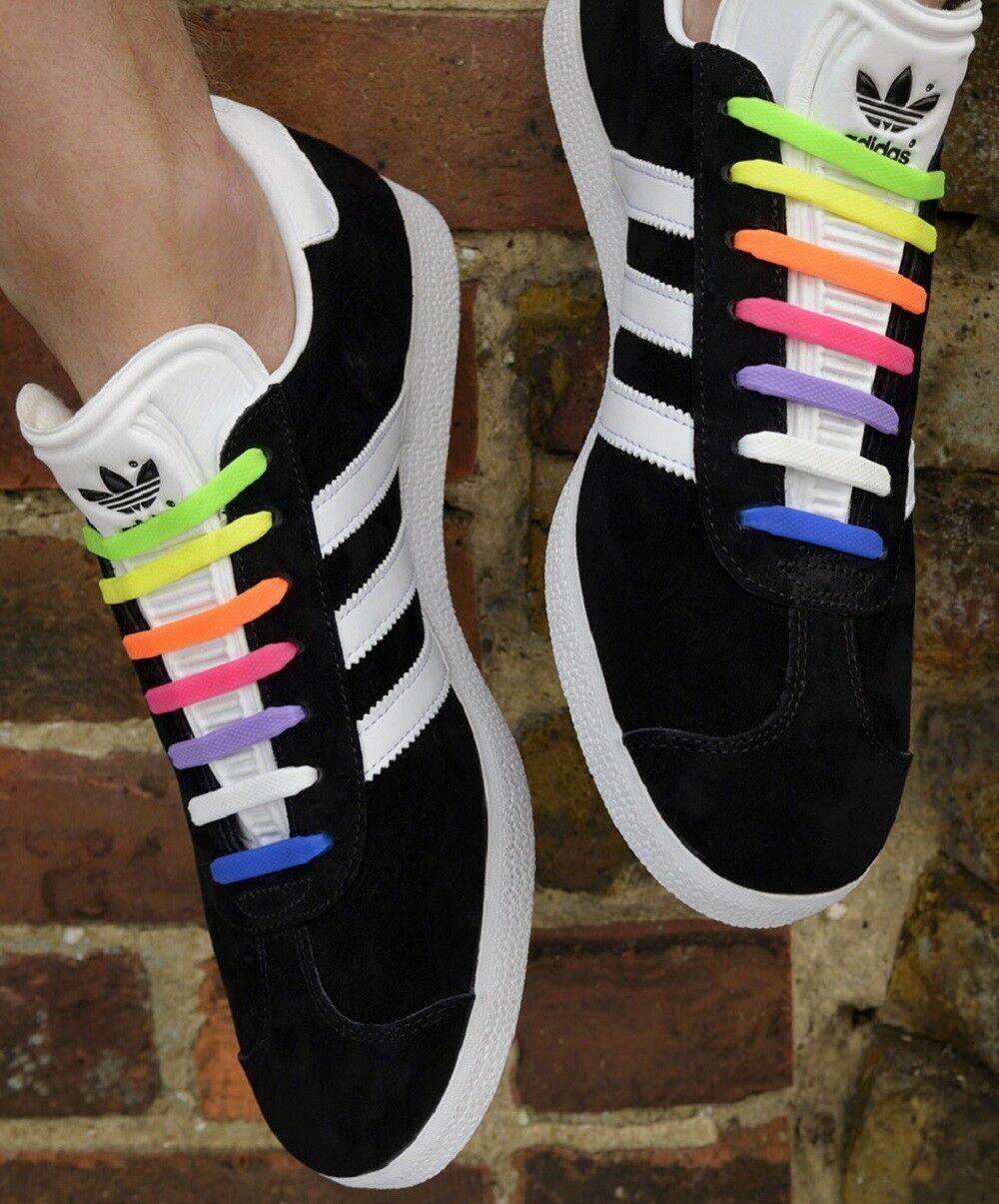 Hirigin Lazy Shoelaces Unisex Elastic Canvas Gym Shoes Laces All Sneakers Fit Strap Sport Shoes Lazy Lock Laces New 8+8 Pcs/Set