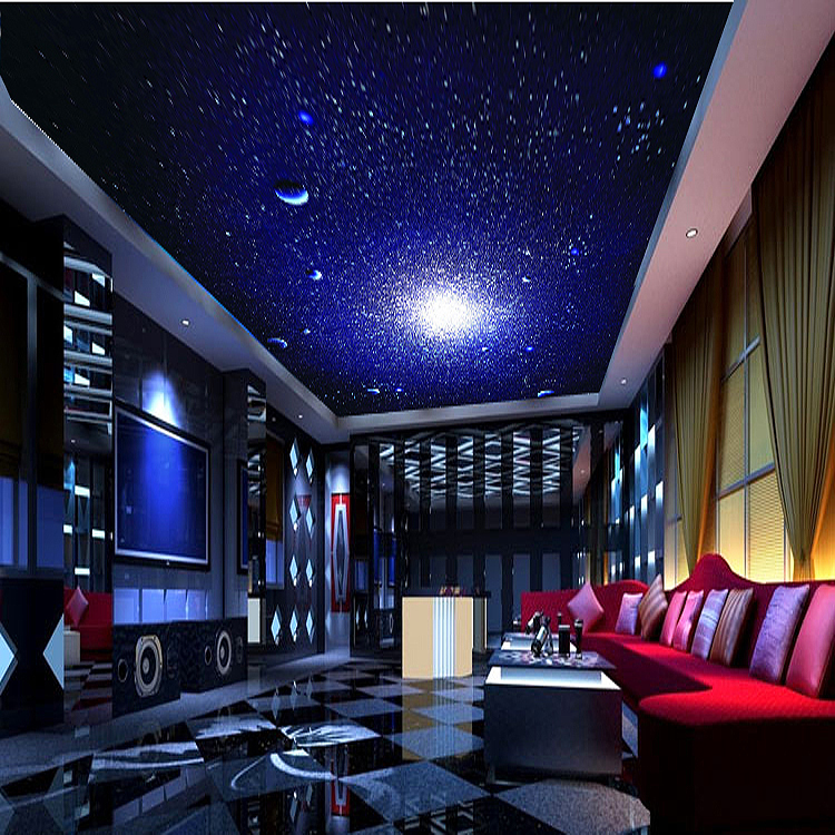 Aliexpress Buy 3D Photo Wallpaper Stereo Star Universe Meteor Personality Theme Room Ceiling Nightclub KTV Large Mural From