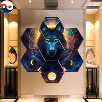 Dream Catcher by JoJoes Art 7 Pieces Wolf Werewolf Canvas Prints Painting Wall Art Modular Picture Modern Decorative Paintings