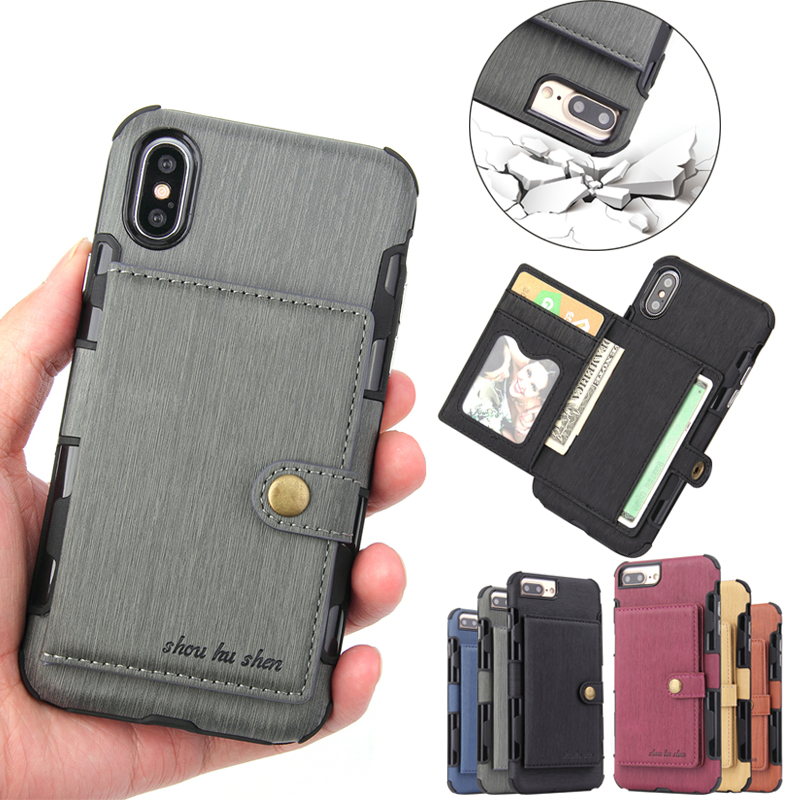 PU Leather Flip Phone Case for iphone XS Max XR iphone 6 6s plus X Card Holder Wallet Cover for iphone 7 8 plus XS iphone 8 Capa