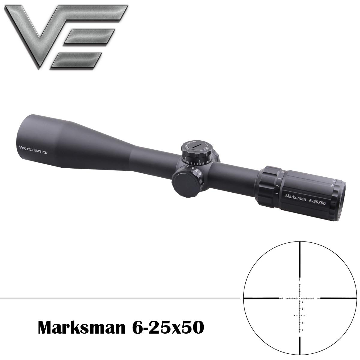 Vector Optics Marksman 6 25x50 Tactical Gun Rifle Scope MPT1 Reticle Low Turret 1 10 MIL