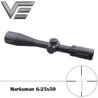 Vector Optics Marksman 6-25x50 Tactical Gun Rifle Scope MPT1 Reticle Low Turret 1/10 MIL Adjustment with Mount Free Shipping