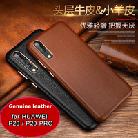 P20 Pro Cenmaso Genuine Cowhide Leather Phone Case For Huawei P20 Case Back Cover For Huawei