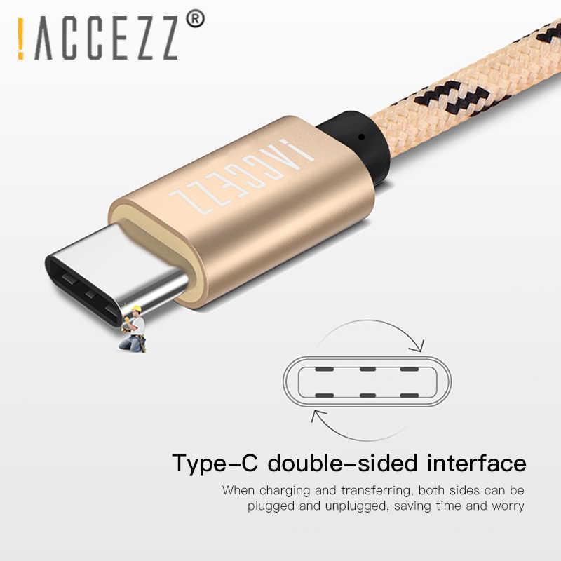 ! ACCEZZ typ C kabel usb do samsunga S8 S9 Plus Oneplus 6 szybkie ładowanie do Xiaomi 5 Mi8 Max 2 Huawei P20 telefon ładowanie danych przewód