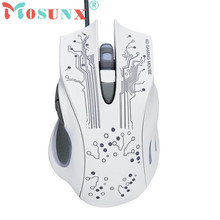Mosunx Advanced 2017 high quality comfortable mini 2400DPI LED Optical 6D USB Wired Gaming Game Mouse For PC Laptop Game 1PC