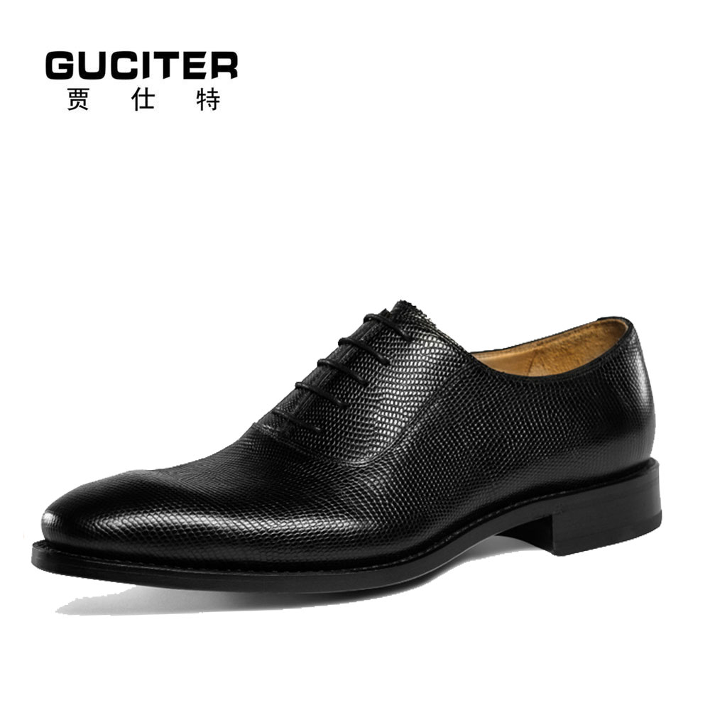 Goodyear craft Lizard skin men's leather shoes business ...