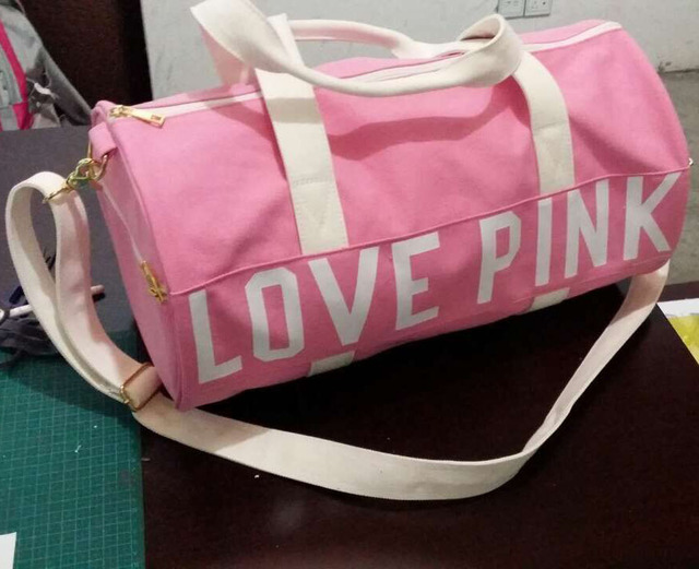 19 Size New 2017 Fashion Women Canvas Duffle Gym Bag Vs Love Pink Travel