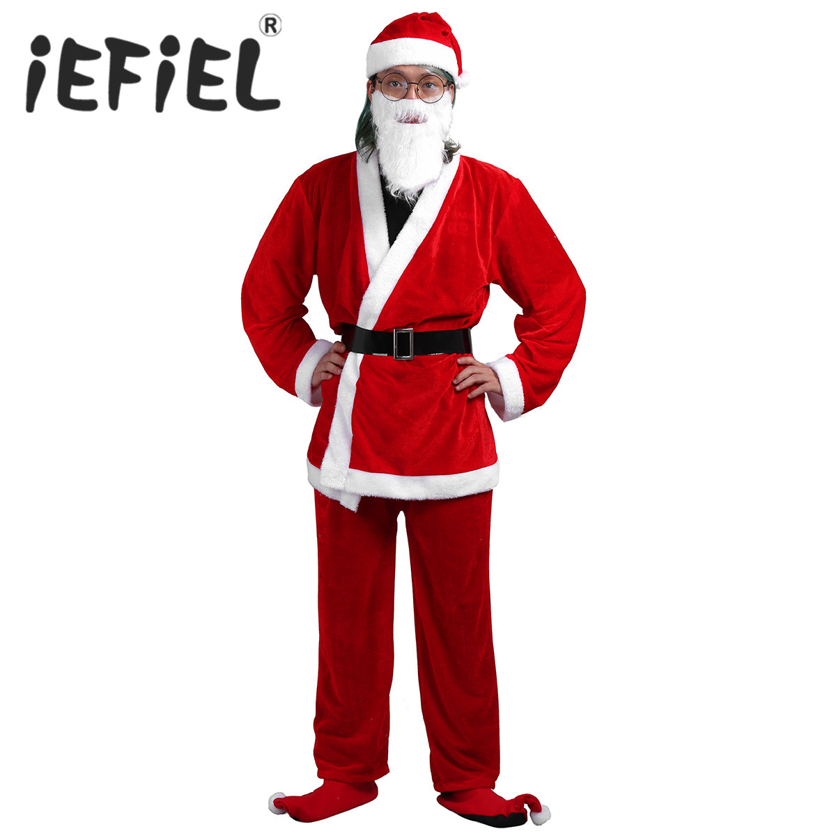 New Arrival Adults Christmas Cosplay Clothes Santa Claus Costume Red Christmas Party Santa Claus Costume Suit Women Xmas Dresses