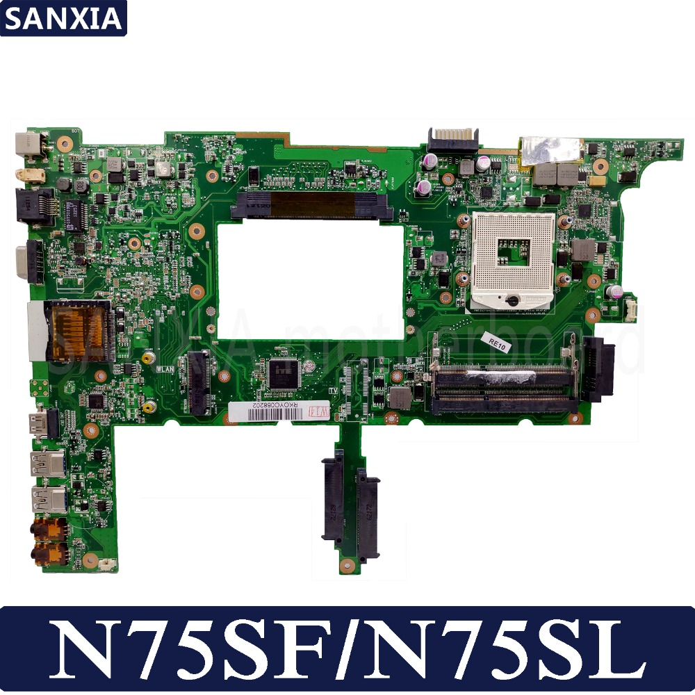 KEFU N75SF Laptop motherboard for ASUS N75SF N75SL N75S N75 Test original mainboardKEFU N75SF Laptop motherboard for ASUS N75SF N75SL N75S N75 Test original mainboard