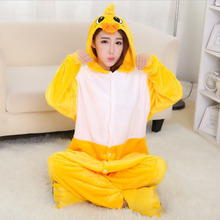 Y Yellow Duck Pajamas Animal Winter Women Men Flannel Onesie Sleepwear  Hoodie Halloween Cosplay Costume Adult 035f3a392