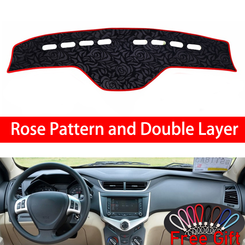 Rose Pattern For CHERY fulwin 2 2013 2014 2015 2016 Cover Car Stickers Car Decoration Car Accessories Interior Car Decals