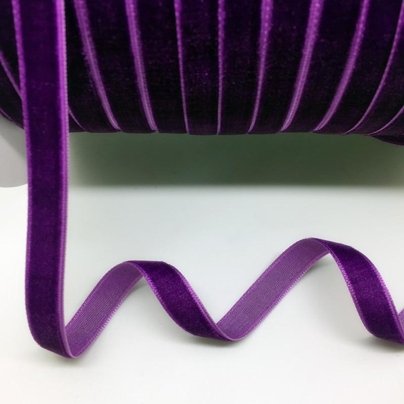 "HTB1spjNg8DH8KJjSspnq6zNAVXa7 5 Yards 3/8""(10mm) Velvet Ribbon Wedding Party Decoration Handmade Ribbon Gift Wrapping Hair Bows DIY Christmas Ribbon"