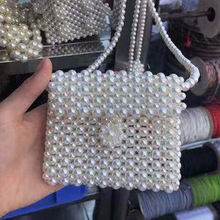купить Handmade Pearl Bags Women Handbags Ladies Evening Party Shoulder Bag Elegant Beaded Messenger Crossbody Bags MIni Phone Purse по цене 1047.96 рублей