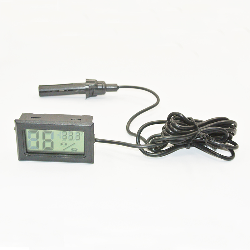Mini LCD digitális hőmérő kapcsoló Hűtőszekrény Fagyasztó nedvességmérő Hőmérséklet páratartalommérő Tojásinkubátor