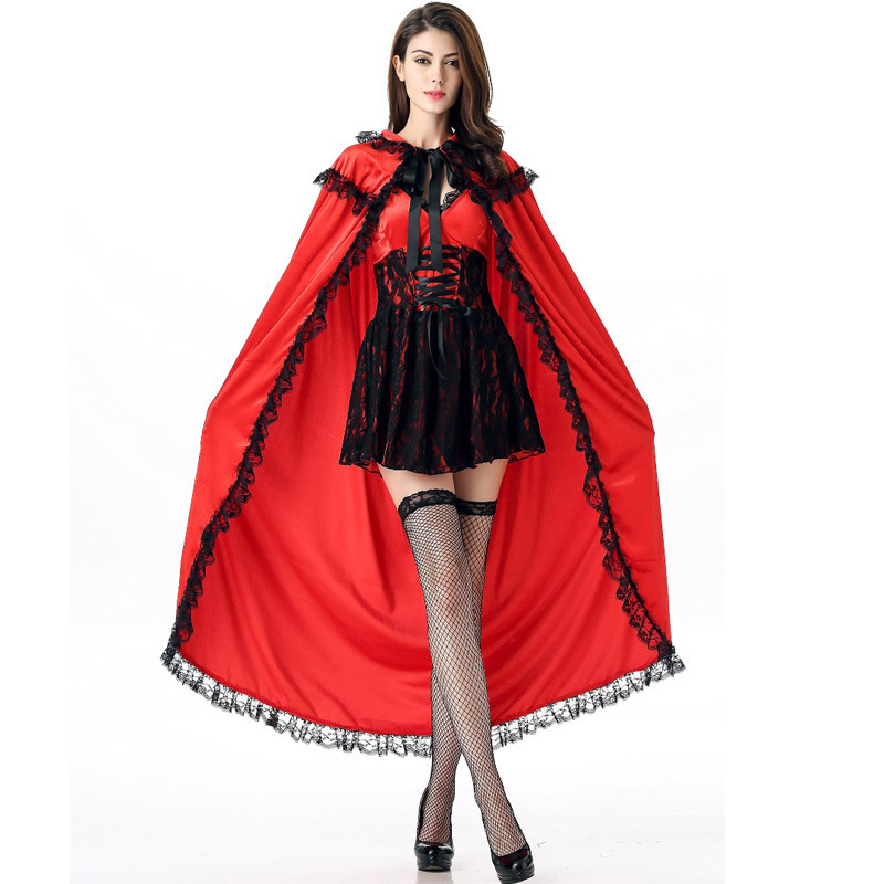 sexy adults red riding hood costumes cape cosplay Fantasia Party halloween costume for women plus size carnival lady fancy dress
