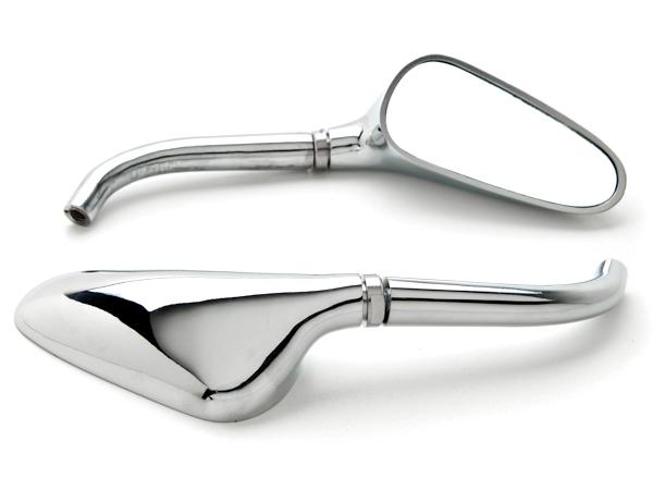Black Motorcycle Mirrors Pair For Yamaha TX SR CS YX RD 350 400 500 600 650 750