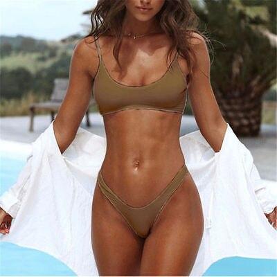 2PCS ITFABS Summer Women Swimwear Bandage Bikini 4 Colors Set Push-up Padded Bra Bathing Suit Swimsuit 5